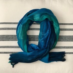 Lightweight Blue and Teal Scarf
